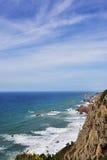 Roca przylądek Cabo da Roca w Sintra Portugalia Fotografia Royalty Free
