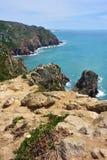 Roca przylądek Cabo da Roca w Sintra Portugalia Zdjęcia Royalty Free