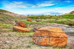 Roca roja Coulee Foto de archivo libre de regalías