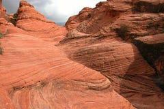 Roca roja de la raya Imagen de archivo libre de regalías