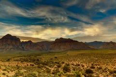 Roca roja en la puesta del sol Imagen de archivo libre de regalías