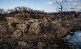 Roca sólido Foto de archivo libre de regalías