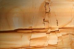 Roca sedimentaria - fracturas Imágenes de archivo libres de regalías