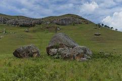 Roca sedimentaria interesante en el castillo de Giants Fotografía de archivo