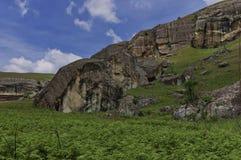 Roca sedimentaria interesante en el castillo de Giants imagen de archivo libre de regalías