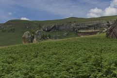 Roca sedimentaria interesante en el castillo de Giants fotografía de archivo libre de regalías