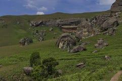 Roca sedimentaria interesante en el castillo de Giants Imágenes de archivo libres de regalías