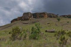 Roca sedimentaria interesante en el castillo de Giants Foto de archivo