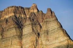 Roca sedimentaria - Teufelschloss - Groenlandia foto de archivo