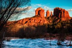 Roca Sedona de la catedral fotos de archivo