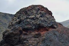 Roca volcánica del timanfaya imagen de archivo