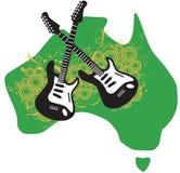 Roca y guitarras australianas Foto de archivo libre de regalías