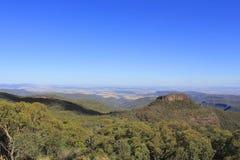 Roca y las gamas de Nandewar, Nuevo Gales del Sur, Australia de Euglah fotos de archivo