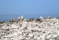 Roca y mar. Cefalu Imagenes de archivo