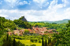 Rocabelgna village in Tuscany Stock Images