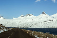 Rocade en Islande, ressort Photographie stock