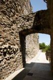 Rocafort portal Besalu, Hiszpania - Zdjęcie Stock