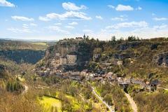 Rocamadour村庄,法国 免版税库存图片