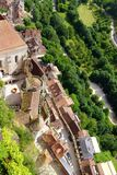 Rocamadour,法国-鸟瞰图 库存照片