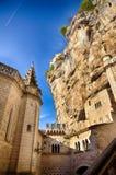 Rocamadour, ένα από το ομορφότερο χωριό στη Γαλλία, θρησκευτικός προορισμός στοκ εικόνα