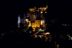 Rocamadour τή νύχτα Στοκ Εικόνες