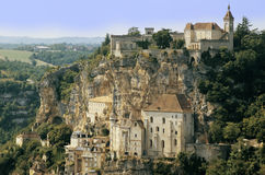 Rocamadour. A view of the french town of rocamadour Stock Images