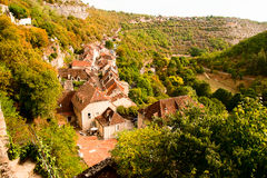 Rocamadour from above Stock Images