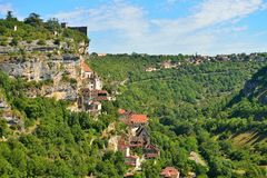 Rocamadour, a beautiful french village on a cliff Royalty Free Stock Photo