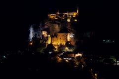 Rocamadour di notte Immagini Stock