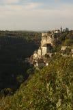 Rocamadour från nord Arkivbild