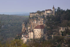 Rocamadour France. As seen from a popular tourist viewpoint Stock Photo