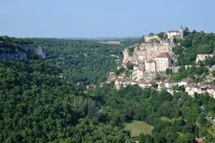 Rocamadour. France as seen from popular tourist viewpoint Royalty Free Stock Photo