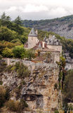 Rocamadour France. As seen from a popular tourist viewpoint. It´s a vertical picture Royalty Free Stock Images