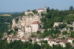 Rocamadour, France. The historic town of Rocamadour and the monastery is an important pilgrimage site in southwest France Stock Photo
