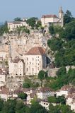 Rocamadour, France. The historic town of Rocamadour and the monastery is an important pilgrimage site in southwest France Royalty Free Stock Images