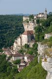 Rocamadour, France. The historic town of Rocamadour and the monastery is an important pilgrimage site in southwest France Stock Image