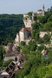Rocamadour, France. The historic town of Rocamadour and the monastery is an important pilgrimage site in southwest France Royalty Free Stock Photography