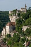 Rocamadour, France. The historic town of Rocamadour and the monastery is an important pilgrimage site in southwest France Stock Images