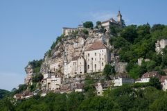 Rocamadour, France. The historic town of Rocamadour and the monastery is an important pilgrimage site in southwest France Royalty Free Stock Image