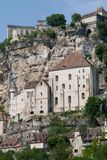 Rocamadour, France. The historic town of Rocamadour and the monastery is an important pilgrimage site in southwest France Royalty Free Stock Photos