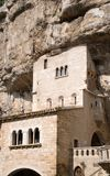 Rocamadour, France. Medieval church in the important pilgrimage site of Rocamadour in Southwest France Royalty Free Stock Images