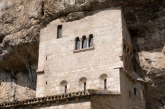 Rocamadour, France. Medieval church in the important pilgrimage site of Rocamadour in Southwest France Royalty Free Stock Photography