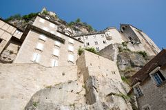 Rocamadour, France. Medieval churches in the important pilgrimage site of Rocamadour in Southwest France Stock Photography