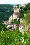 Rocamadour Frankrike Arkivbild