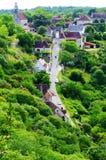 Rocamadour Frankrike - flyg- sikt Royaltyfri Bild