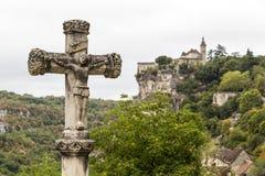 Rocamadour fristad, Frankrike royaltyfri bild