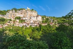 Rocamadour in Lot department in France. Stock Image