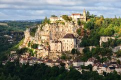 Rocamadour medieval village view Royalty Free Stock Photos