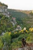 Rocamadour od południe obraz royalty free