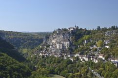 Rocamadour Panaroma Royalty Free Stock Images